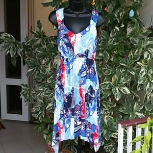 Style & Co.  Abstract July Sun Dress Sz S